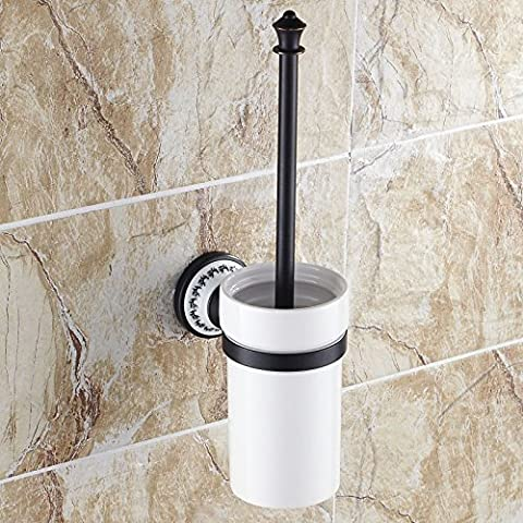 Porta scopino wc in ceramica nero rame pastorale