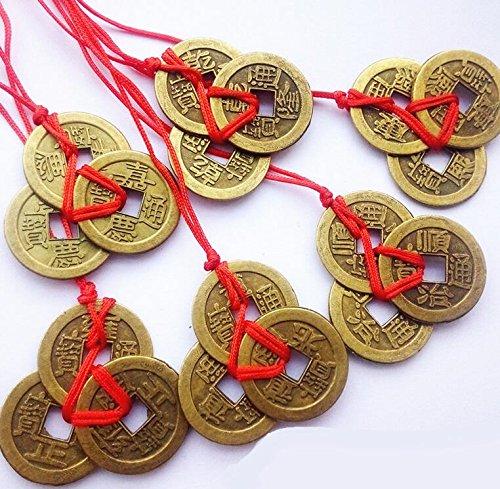 Fengh Reichtum und Erfolg Chinesischen Feng Shui Münzen-Bronze -