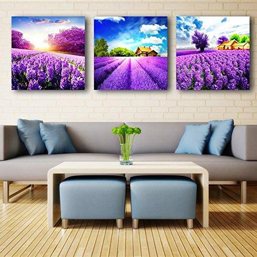 broadroot DIY 5D Diamant Aufkleber Kreuzstich Malerei Romantische Lavendel Home Decor (Aufkleber Lavendel Große)