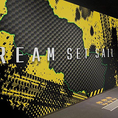 Wongxl 3D Bar Tapete Industrie-Metall-Wand-Papier-Turnhalle Sport Themed Restaurant Wandbilder 3D Tapete Hintergrundbild Fresko Wandmalerei Wallpaper Mural 400cmX300cm