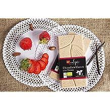 Chocolate blanco ecológico con fresas. 95 gr. Producto ecológico