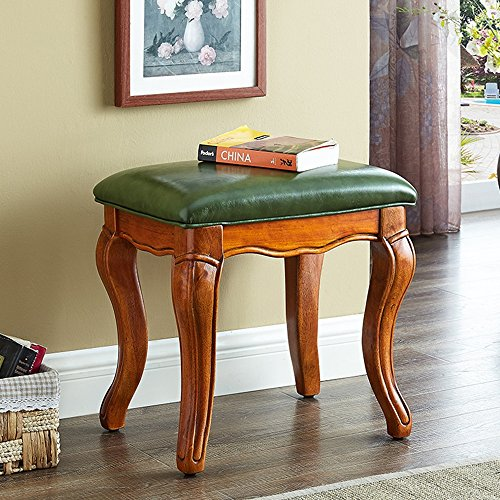 DEO table Vanity Stool Retro Makeup Bench Dressing Stool Pad Cushioned Chair Piano Seat Durable (Color : PU seat)