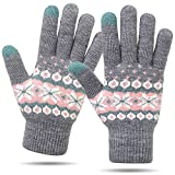 VENI MASEE Winter-Touchscreen Handschuhe Warm Thermische weiche Futter elastische Manschette für Frauen und Männer