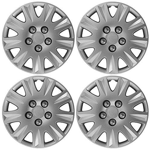 Wing-Mirrors-World-Toyota-Yaris-Verso-381-cm-Denver-copricerchi-coprimozzi-plastica-Covers-argento