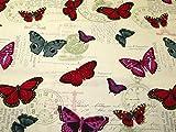 Schmetterling Print Baumwolle Canvas Stoff