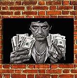 Box Prints Scarface Tony Montana Geld Leinwand Wand Kunstdruck Bild groß Klein