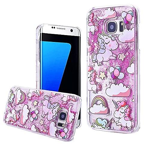 WE LOVE CASE Samsung S7 Edge Hülle Einhorn , Galaxy