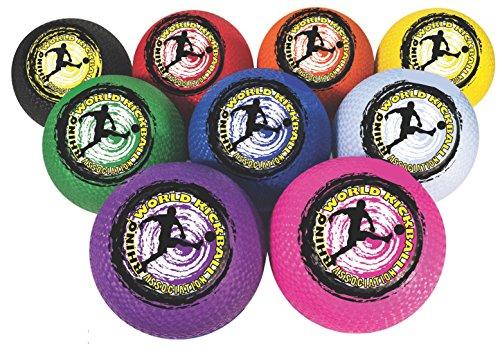 Champion Sports Rhino Welt 25,4cm Kickball Set beinhaltet jeweils in rot, orange, gelb, grün, blau, lila, rosa, schwarz/weiß -