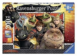 Dragons - Puzzles 200 piezas XXL (Ravensburger 12812 9) , Modelos/colores Surtidos, 1 Unidad