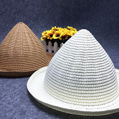 27% OFF on Generic Style 9   Summer Style Child Sun hat Beach Sunhat Fedora  hat Trilby Straw panama Hat Sweet Cute boys girl Gangster Cap For Kids  Children ... 0fc902ee95ab