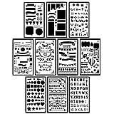 Candygirl Bullet Tagebuch Schablone, Set Kunststoff DIY Zeichnen Vorlage Planner wiederverwendbar für Diary, Scrapbook, Notebook, Art Craft Projekte, 10,2x 17,8cm design 2
