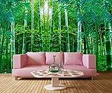 Yosot Frisches Grün Bambus Wald 3D Tapeten Hotel Restaurant Wohnzimmer Fernseher Sofa Wand Schlafzimmer Küche Große Wandmalereien-300Cmx210Cm