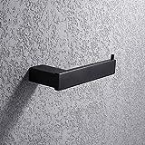 Turs Piazza carta igienica Holder Hotel bagno tessuto carta rotolo titolare SUS 304 in acciaio inox inossidabile montaggio a parete, opaco nero finitura, N1002BK