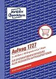 Avery Zweckform 1727 Auftrag (A6, selbstdurchschreibend, 2x40 Blatt) weiß/gelb