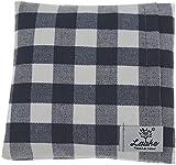 Laake PC-Mauskissen - Handballenkissen - Rapskissen - mit abnehmbarem Bezug 100% Baumwolle (waschbar) - nachhaltig | Inlett BIO-Baumwolle (GOTS) (blau-weiss-kariert)