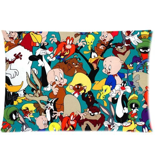 warner-brothers-looney-tunes-cartoon-characters-custom-zippered-pillow-cases-20x-30twin-sides