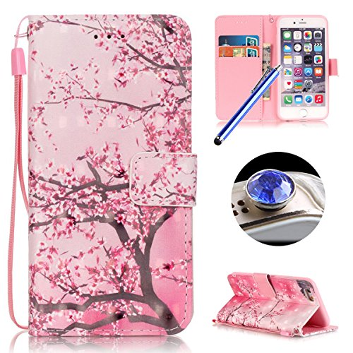 iPhone 6 Plus Custodia in Pelle,iPhone 6S Plus Cover Portafoglio,Etsue Lusso/Retro/Elegante Style Disegni Artificiale Leather PU Flip/Wallet/Libro Bookstyle Con Chiusura Magnetica/Card Slot/Supporto d &32