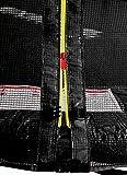 SixBros. SixJump 2,45 M Gartentrampolin Schwarz Intertek / GS geprüft Trampolin – Leiter – Sicherheitsnetz – Wetterplane – TS245/1929 - 2