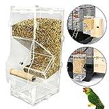 Acrilico Pet Pappagallo Uccellino Automatico Gabbia Alimentatore Formato Piccolo Singolo Tramoggia Animali Fornitura Accessori Uccelli Alimentatori,400G