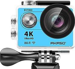AKASO EK7000BL Wi-Fi Ultra HD Waterproof Sports Action Camera (Royal Blue)