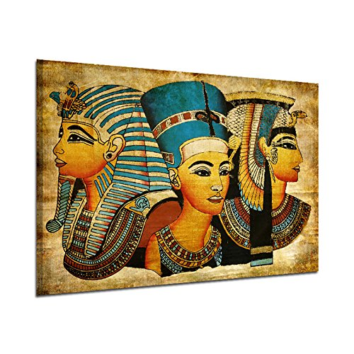 Canvas Wall Art, Ancient Egyptian Full Mural Oil Painting 40 * 60Cm Egypt Wall Painting Oil-Picture Full Figure Pharaoh Home Decor