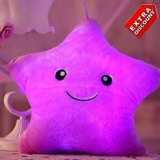 EZ Life LED Light Plush And Soft Toy Pillow (Purple)