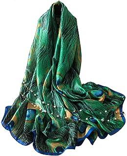 ec7addddf6f 5 ALL Echarpe Foulard Femme Impression Anti uv Coloré En Soie Grand Coton  Foulard Soie Chale