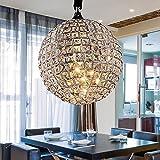 QAZ Chrome moderne Lustre Globe, lanterne ombre avec effet cristal acrylique luminaires Bijoux