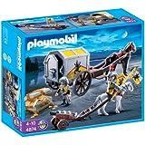 Playmobil - 4874 - Jeu de construction - Convoi et trésor des chevaliers du Lion