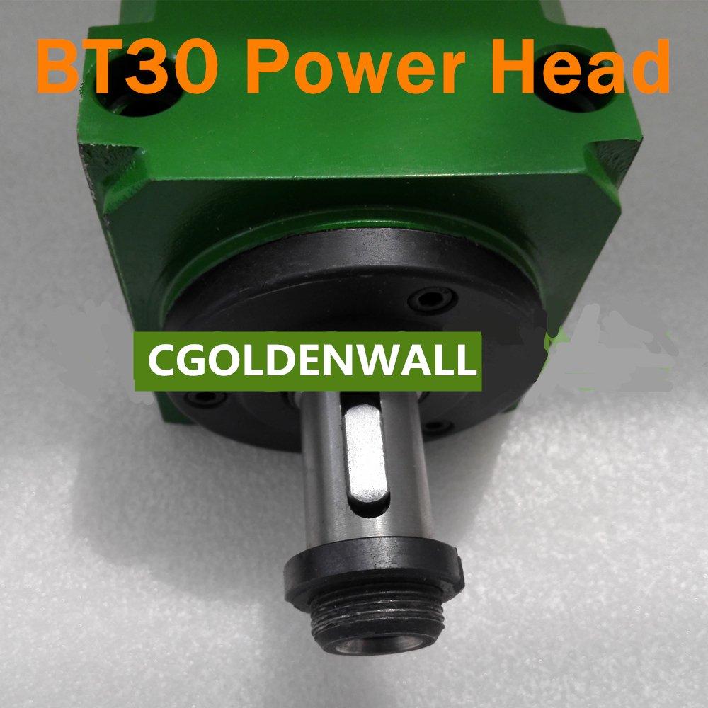 CGOLDENWALL BT30 Wasserdichtes Kegelfutter 1500 W 1,5 KW 2 PS Power Head Power Unit Machine Tool Spindel Winkel…