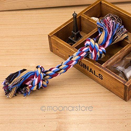 EMVANV 15cm Baumwolle Haustier Hund Seil Spielzeug Kauen unzerstörbar, geflochten, Tug Chewers Lustige mit Welpen-Spielzeug (Farbe wird zufällig ausgewählt) (Spielzeug Hund Kauen)