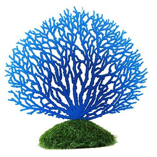 Aquarium Kuenstliche Korallen Ornament Unterwasserpflanzen Schmuecken Blau