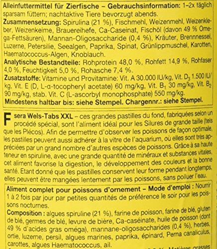 sera Wels-Tabs XXL 1.000 ml das Futter für größere Welse: Als Boden- oder Hafttablette nutzbar - 3