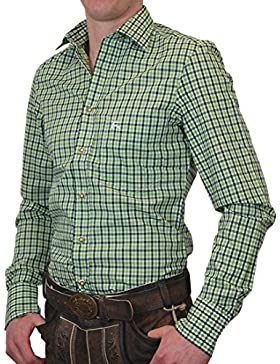 OS Trachtenhemd Linus Bicolor langarm Slim Fit in verschiedenen Ausführungen