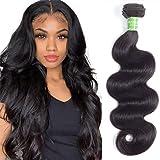 ANNELBEL Brazilian Hair One Bundles Body Wave 100% Virgin Human Hair 1 Bundles 10 inch Weave Hair Human Bundles Natural Color