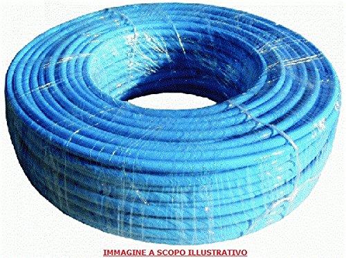 TUBO CALIBRATO IN POLIURETANO 98 ShA AZZURRO PER ARIA COMPRESSA 6 X 8 mm 100 METRI