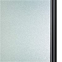 Qualsen Privacy Window Film Frosted Window Film Decorative Glass Window Sticker Non-glue Static Cling Window Film Anti-UV - 90 x 300cm, YQ100