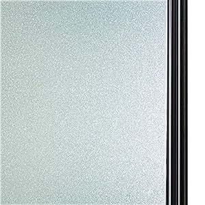 44.5cm X 200cm, DS001W DUOFIRE Privatsph/äre Fensterfolie Dekorfolie Sichtschutzfolie Ohne Kleber Selbstklebend Glas Fenster Aufkleber Anti-UV Folie