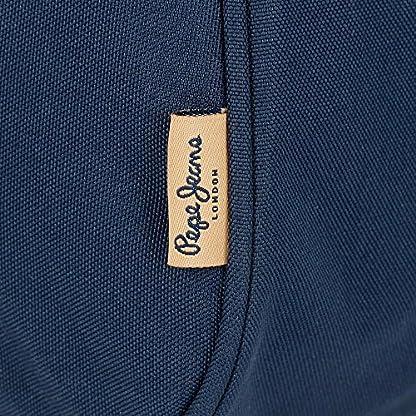 61u1mg1eyCL. SS416  - Pepe Jeans Scarf Neceser de Viaje, 22 cm, 1.98 Litros, Azul