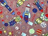 Rocket Schiffe Polycotton-Stoff Kleid Print