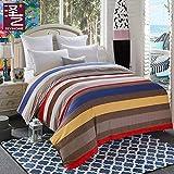 Unbekannt WLL Modernen Minimalistischen Stil Gestreift 100% Baumwolle Bettbezug - Ein 220*240 cm (87 x 94 Zoll)