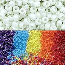 Goodlucky365 500pcs Científicos Uv Abalorios Perla Ultravioleta Cuentas Perlas Reactiva del Potro de Plástico Para Hacer Pulseras-Puede Cambiar El Color Bajo La Luz del Sol
