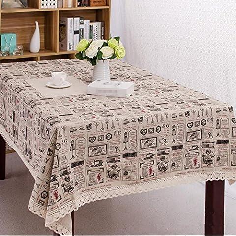 Cotone pizzo tabella panno lino, sciarpa di lino tovaglia ristorante