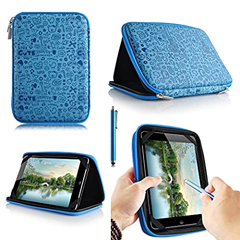 casezilla A2017,8cm Mid Apad ePad Netbook Tablet Universal EVA Hartschale Folio Tablet Fall Blau Samsung Galaxy Tab 3 Kids Tablet
