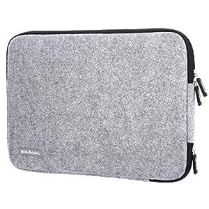 Guaiboshi Laptop-Schutztasche aus Wolle, für die beliebtesten 33–33,8cm (10-10,3 Zoll) Tablets/Ultrabooks/Notebooks (grau 2) + Ladeöffnung