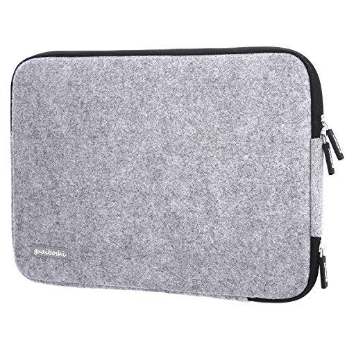 Guaiboshi Laptop-Schutztasche aus Wolle, für die beliebtesten 33–33,8cm (10-10,3 Zoll) Tablets/Ultrabooks/Notebooks (grau 2) + Ladeöffnung Die 10 beliebtesten