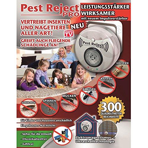 Pest Reject Pro® Insecto Conector Impuls Amplificador Generación-greift también Fliegende plagas a.-Original de TV de Publicidad