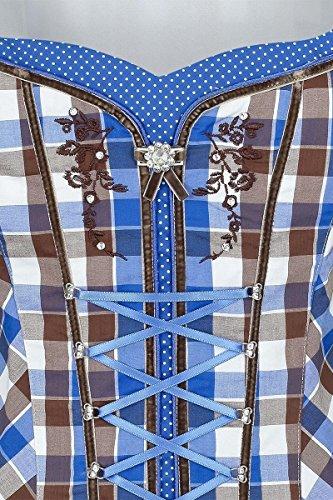 Damen Spieth & Wensky Mieder kariert weiß braun blau, blau, Blau