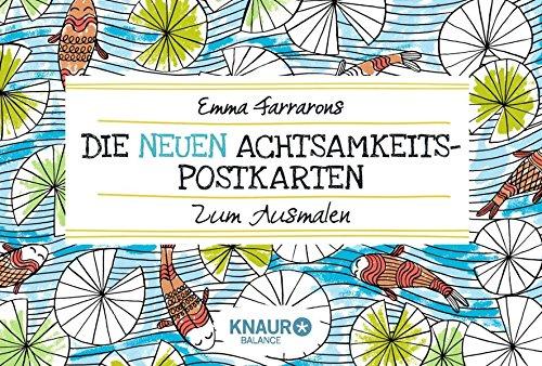 Die neuen Achtsamkeits-Postkarten zum Ausmalen par Emma Farrarons