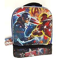 Marvel Captain America vs Iron Man: Civil War Dual Compartment Lunch Bag Kit